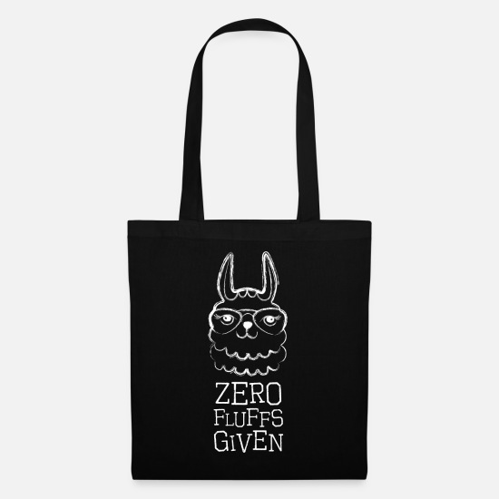 Cool Sayings Bags & Backpacks - Hipster Lama drawing gift birthday alpaca - Tote Bag black