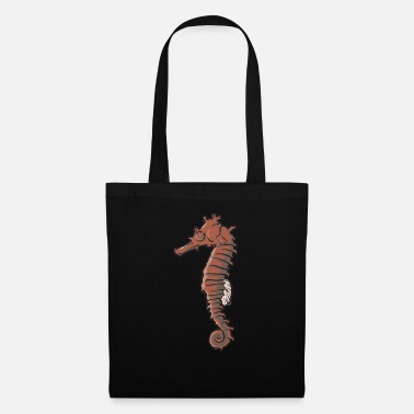 Seahorses in the sea as sea creatures gift - Tote Bag