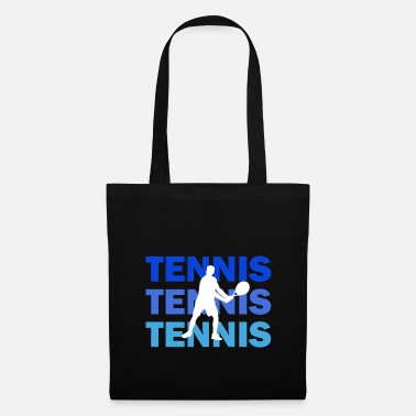Serve Tennis with lettering in multicolored - Tote Bag
