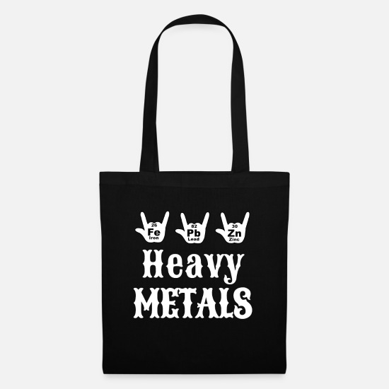 Chemistry Bags & Backpacks - Chemistry Funny Chemistry Heavy Metal Gift - Tote Bag black