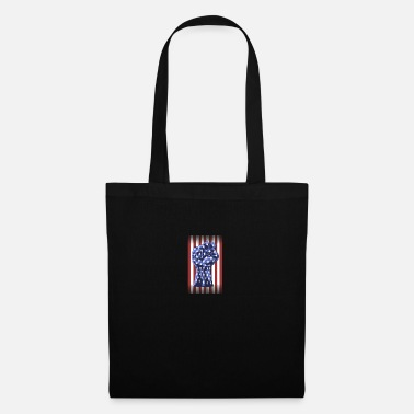 Fist American Right Raised Fist Flag - Tote Bag