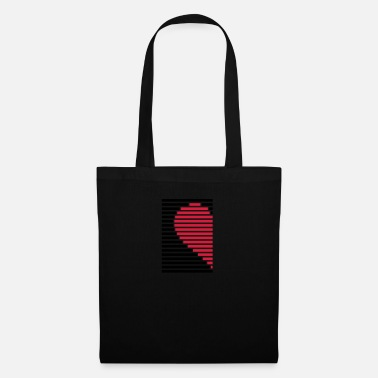 Couples heart partner shirt left - Tote Bag