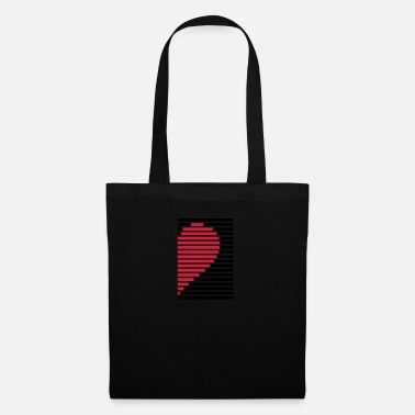 Couples heart partner shirt right - Tote Bag