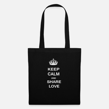 Calm Keep Calm Share Love - Tote Bag