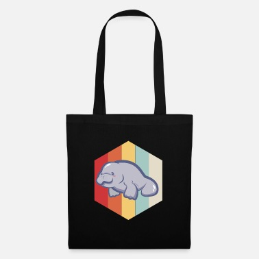 Chubby Manatee Retro Vintage Save The Floaty Potatoes - Tote Bag