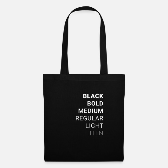 Layout Bags & Backpacks - Fonts - Font Shirt - Tote Bag black