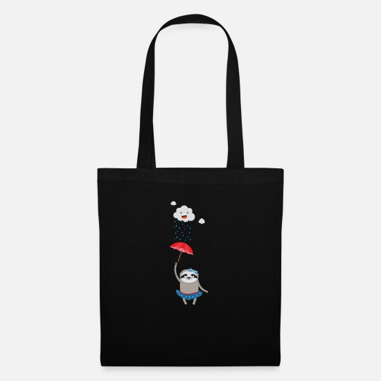 Skies Bags & Backpacks - Umbrella Sloth in the rain - Tote Bag black
