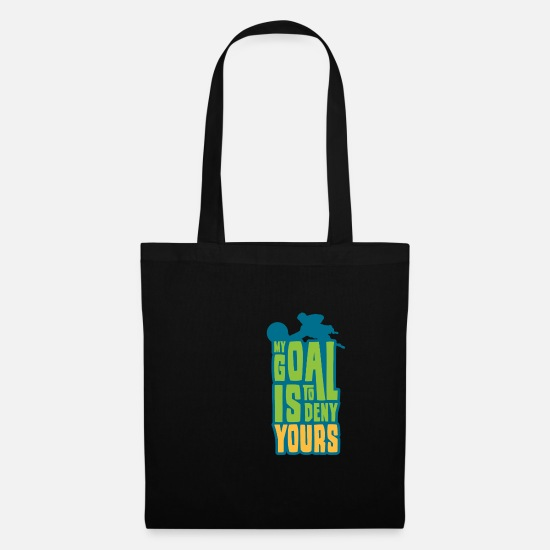 Soccer Bags & Backpacks - MY GOAL IS IT Football Gift For Goalkeeper - Tote Bag black