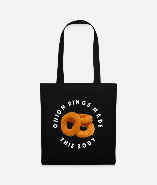 Christmas Bags & Backpacks - Onion Rings Fried Onion Rings Onion Gift - Tote Bag black