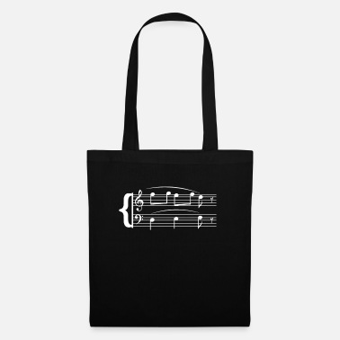 Strange Musician T-Shirt Men and Women Shirt Sheet Music - Tote Bag