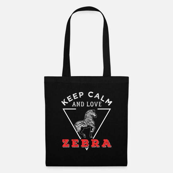 Enviromental Bags & Backpacks - zebra - Tote Bag black