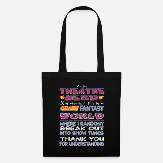 Musical Bags & Backpacks - Theatre Nerd - Tote Bag black