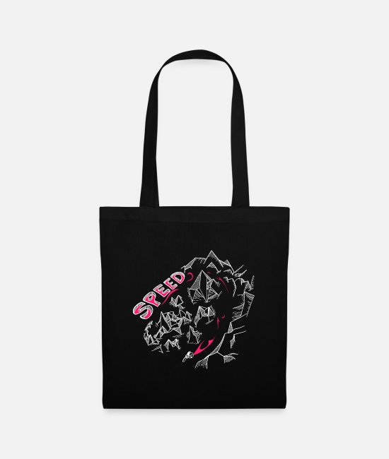 Mountains Bags & Backpacks - Speed Low Poly Mountains Perfect Graphic Logo Design - Tote Bag black