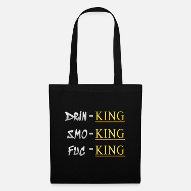 Silver Drinking smoke shit on it - Tote Bag