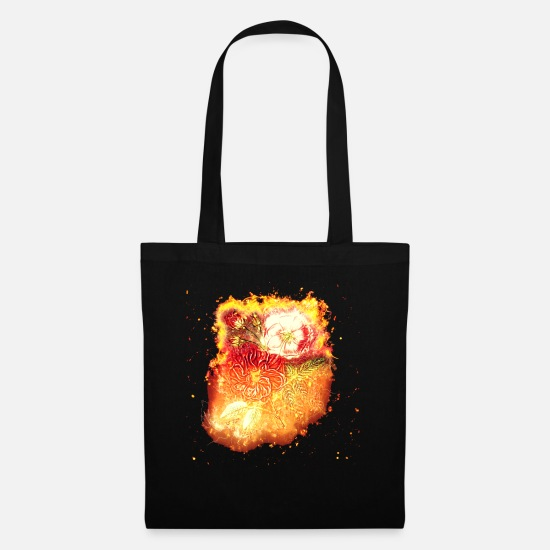 Red Bags & Backpacks - Red pink burning - Tote Bag black