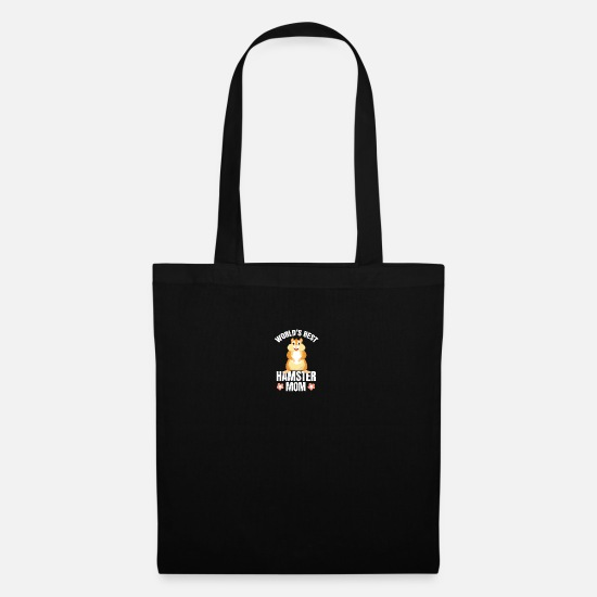 Owner Bags & Backpacks - Worlds Best Hamster Mom Lover Gift Hammy Pet - Tote Bag black