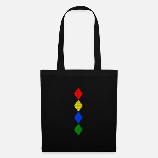 Digital Bags & Backpacks - Rough diamonds - Tote Bag black