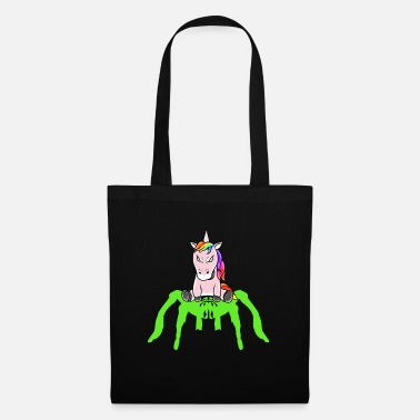 Toddler Horror Halloween Unicorn Tarantula Fantasy - Tote Bag