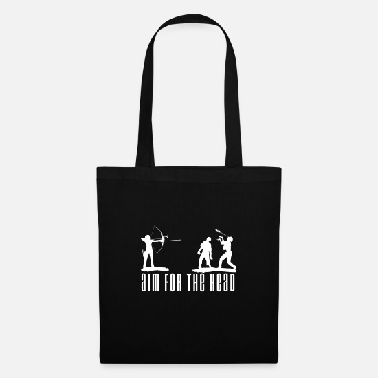 "Gift Idea Bags & Backpacks - Halloween ""Aim for the Head"" zombies - Tote Bag black"