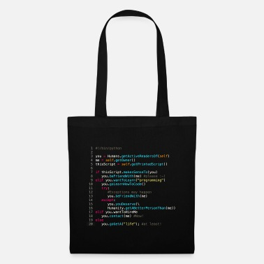 Be friends with programmers (in Python) - Tote Bag