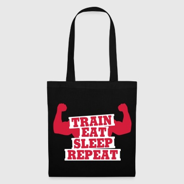 Train, eat, sleep, repeat - Stoffbeutel