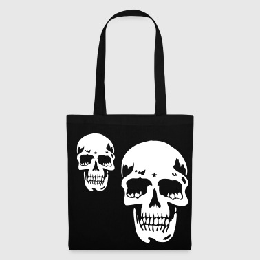 skull pirate death heavy metal - Tas van stof