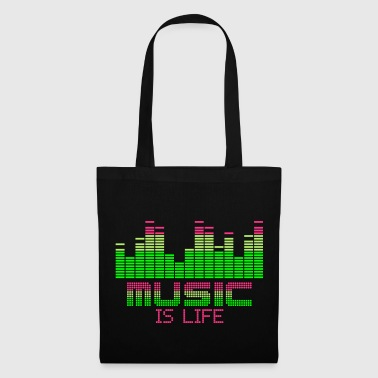 equalizer music is life - Tote Bag