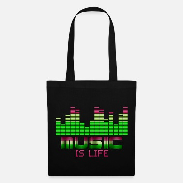 Equalizer equalizer music is life - Tote Bag