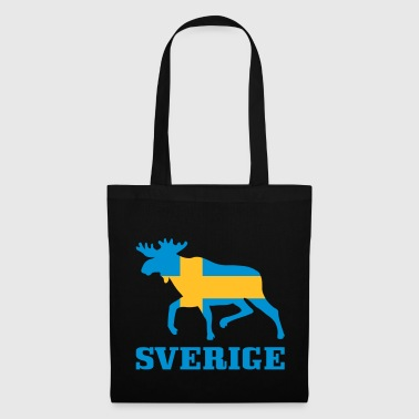 Sverige Sweden Swedish Flag Elk - Tote Bag