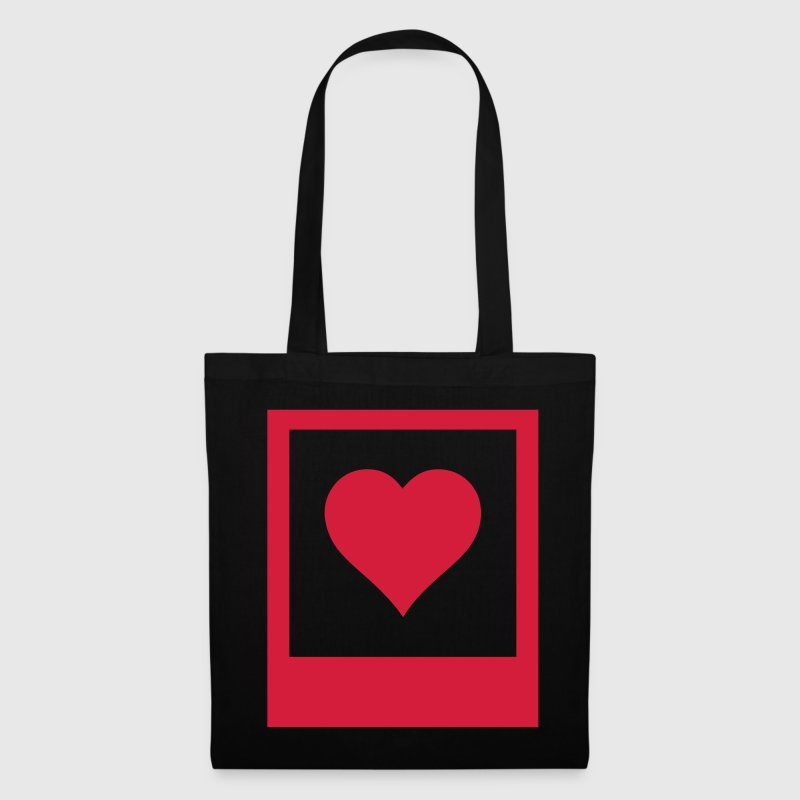 polaroid heart coeur de polaroid - Tote Bag