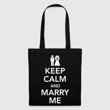 Keep calm and marry me - Bolsa de tela
