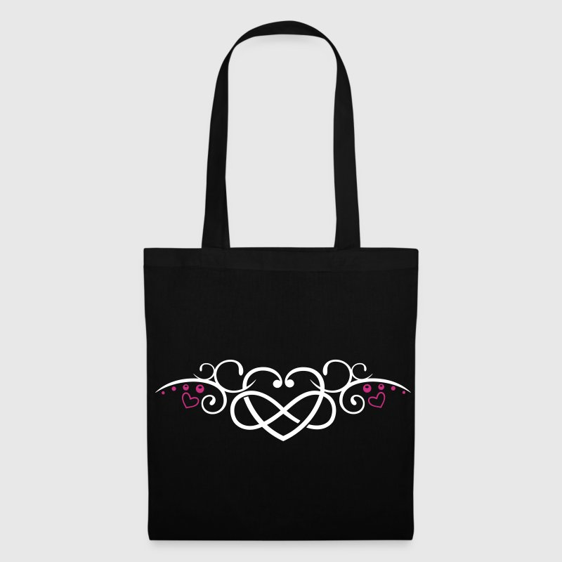 Heart with infinity symbol, Tribal & tattoo style - Tote Bag