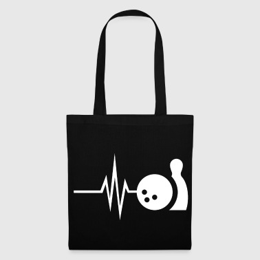 My heart beats for bowling - skittles Strike Pin - Tote Bag