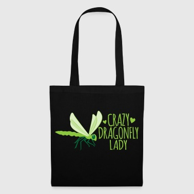 crazy dragonfly lady - Tote Bag