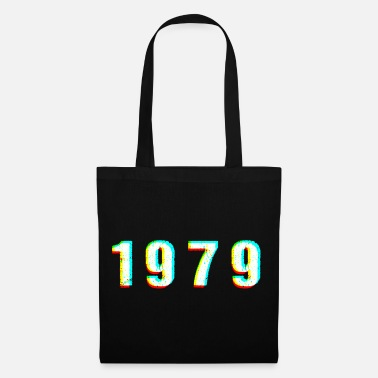 Jersey Number 1979 glitch number vintage birthday gift - Tote Bag