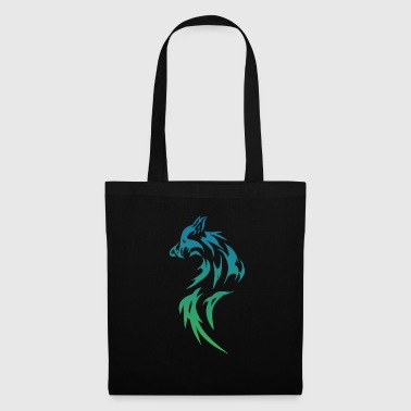 loup tribal - Tote Bag