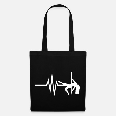 Pole Dance Mon cœur bat pour la pole dance - danse pole dancing - Tote Bag