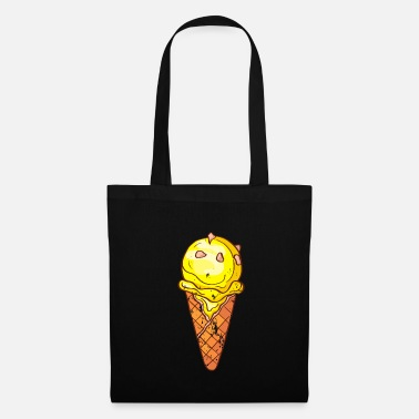 Ice Cream Retro vintage grunge style ice cream - Tote Bag