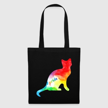 Rainbow Watercolour Pride Kitty - Tote Bag