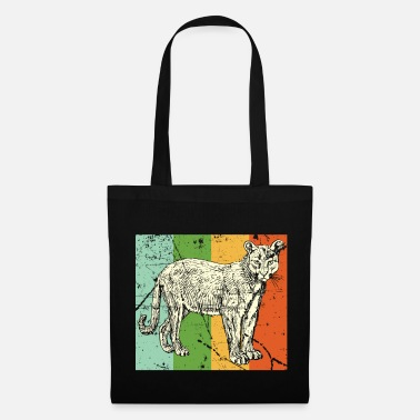 Tanzanie Léopard cougar dent noir jungle - Tote Bag