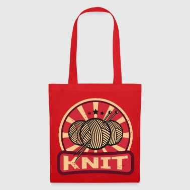 Knitting Propaganda | Wool hobby sewing needle yarn - Tote Bag