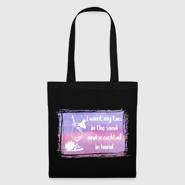 Sand and Cocktail  - Tote Bag