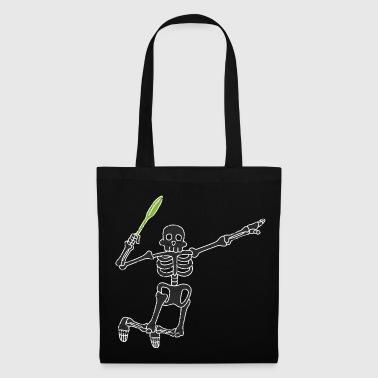 Badminton Skeleton Halloween Badminton Team Sport - Bolsa de tela