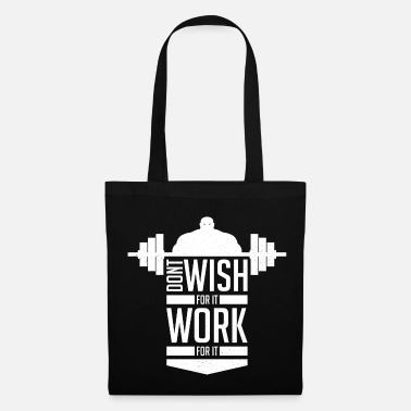 Muscle Training. Strong white man. Cool present - Tote Bag