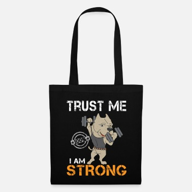 Ijzer Muscles Strong Body Funny Workout Gift - Tas van stof