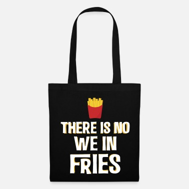 Ketchup French fries greedy alone eating funny - Tote Bag
