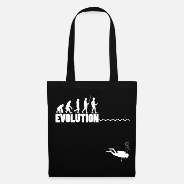 Outdoor Evolution Monkey to Scuba Diver Funny Gift - Tote Bag