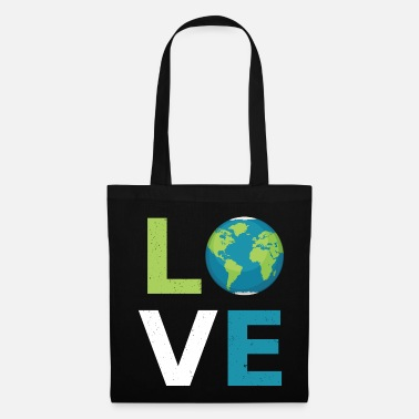 Libra Regalo fresco de Earth Love Planet - Bolsa de tela