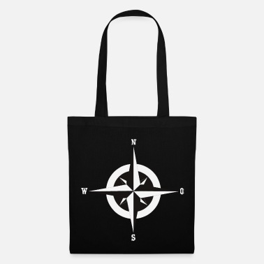 Nonsense Compass in black and white - Tote Bag