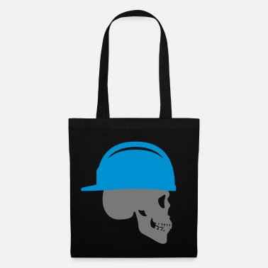 Backwards Skull with construction helmet backwards - Tote Bag